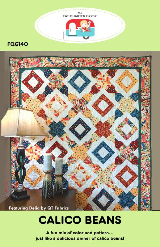Calico Beans Quilt Pattern | The Fat Quarter Gypsy