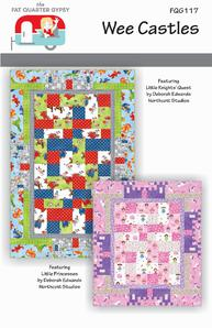 Wee Castles Quilt Pattern Northcott Little Knights